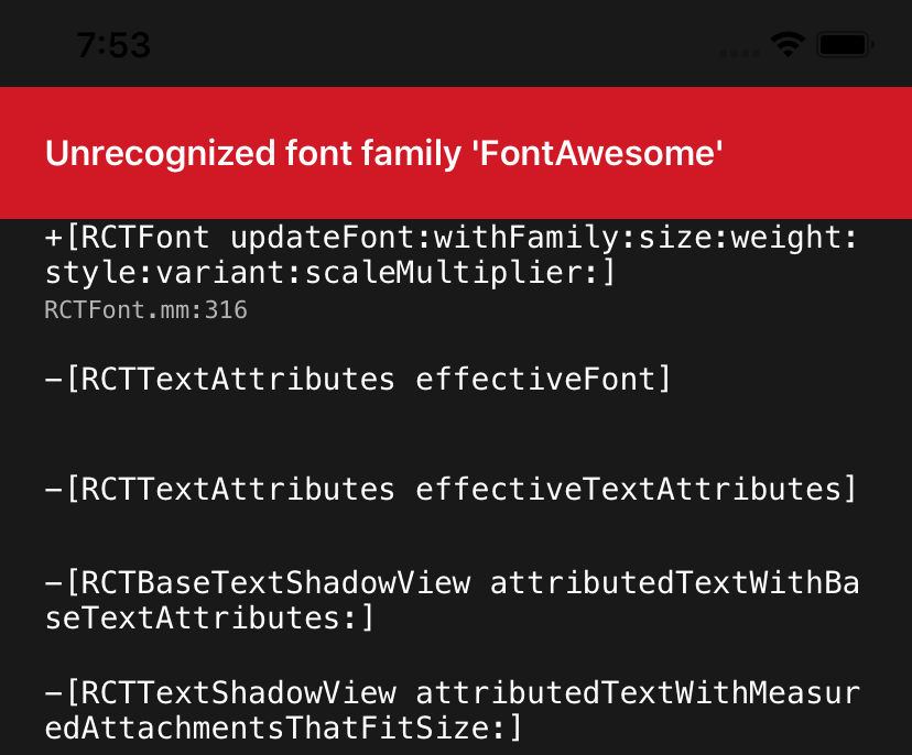 Unrecognized Font Family Fontawesome